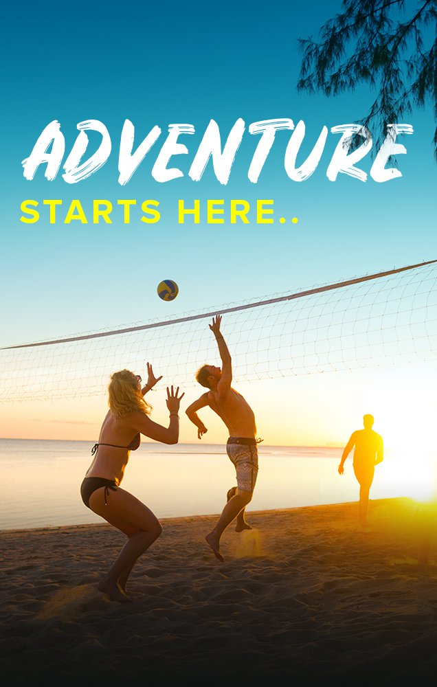 Intro Travel Adventure Starts Here Beach Volleyball Thai Intro