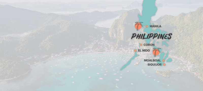 Philippines Destination Map