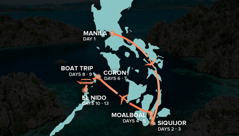 Philippines Itinerary Map