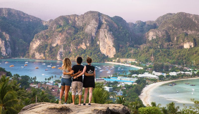Intro Travel Thai Intro Experience Group Tours Adventure Phi Phi Islands Viewpoint