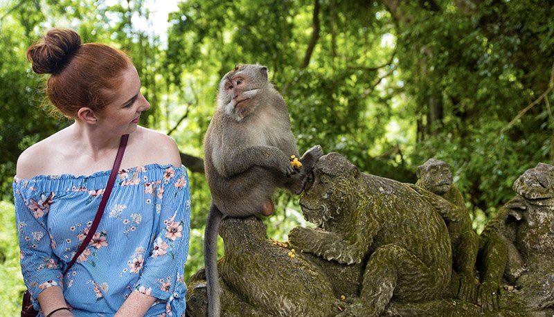 Bali Experience Monkey Forest Girl Intro Travel